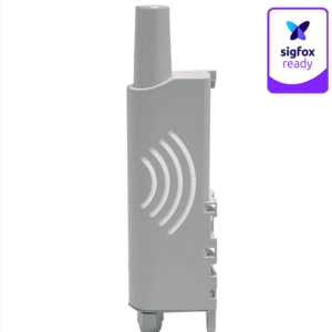 Side angle shot of the Adeunis Repeater with the Sigfox logo