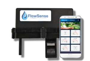 FlowSense tranceiver image with app