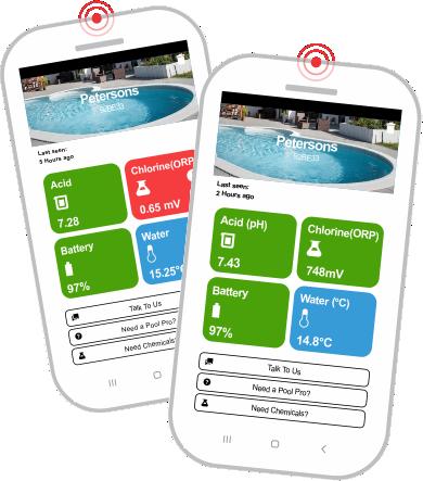 PoolSense - app faces