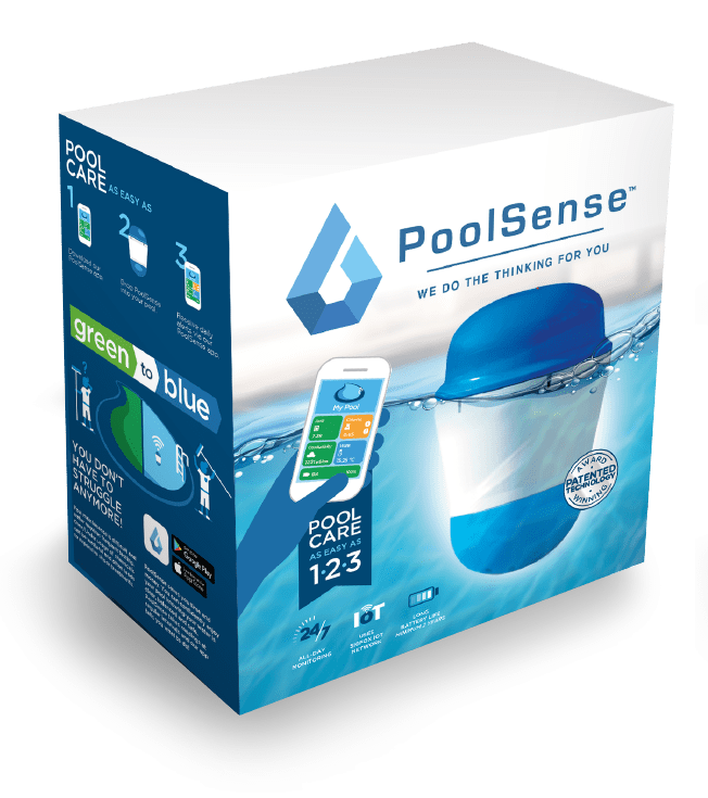 PoolSense product and packaging